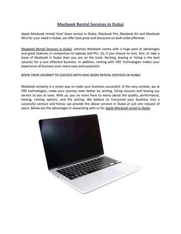 Macbook rental services
