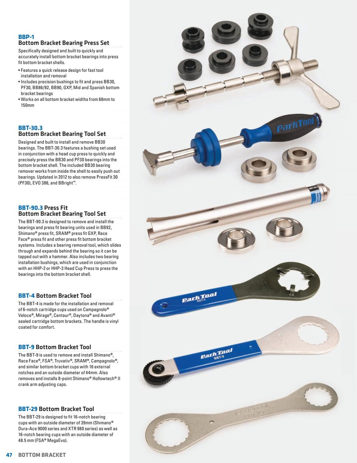PARK TOOL BBT9 HollowTech II bottom bracket and crank arm tool