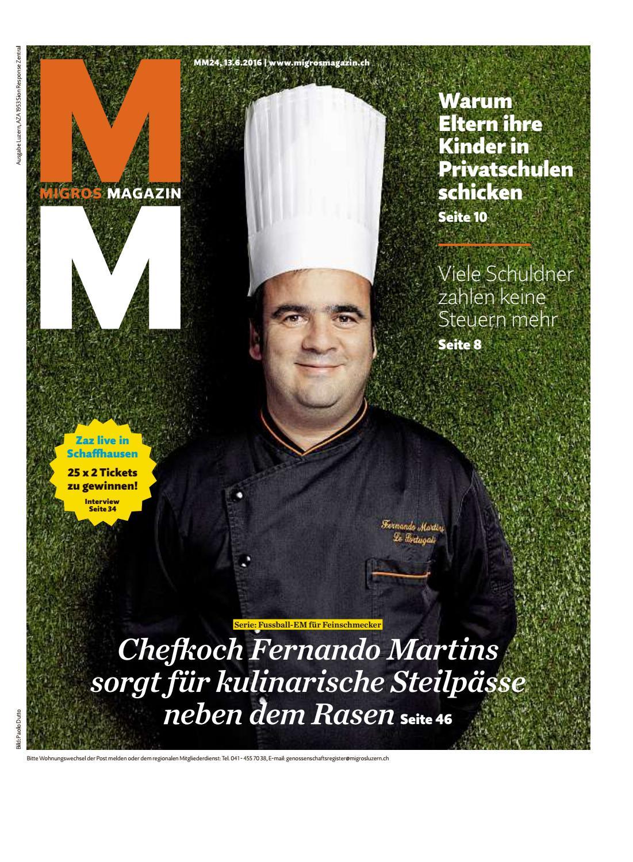 Migros magazin 24 2016 d lu by Migros-Genossenschafts-Bund - issuu