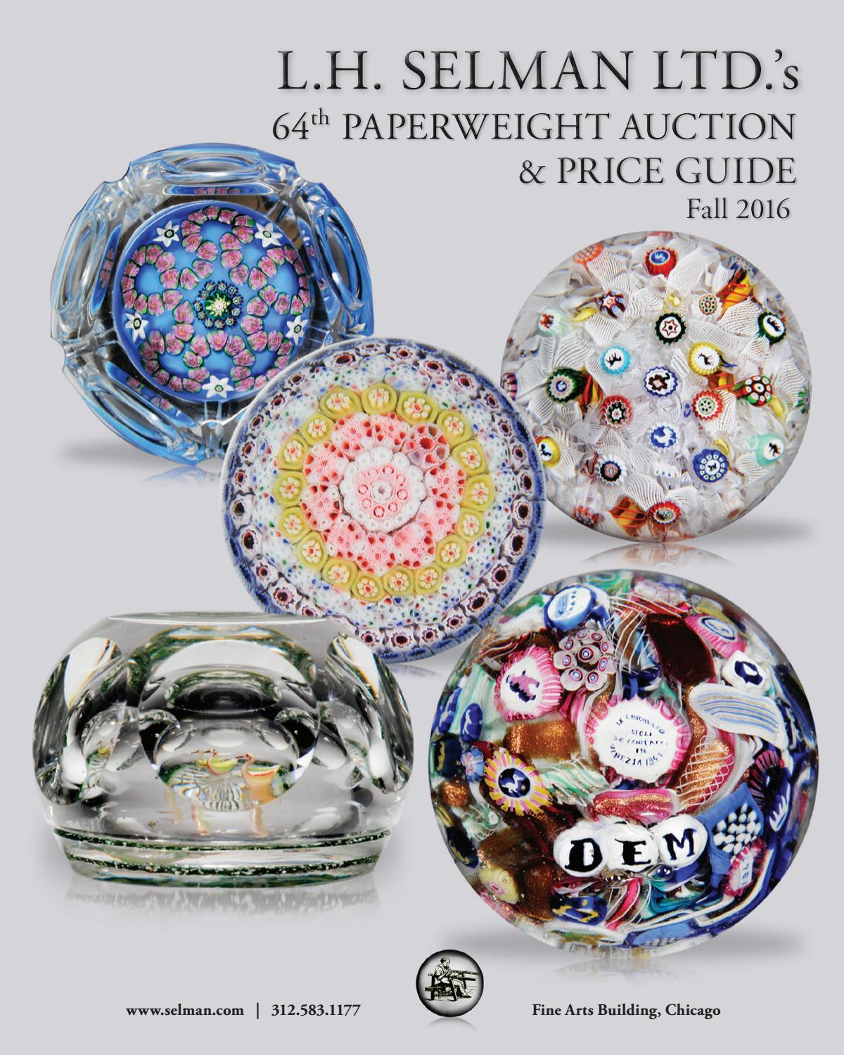 Lh Selman Ltds 64th Paperweight Auction Price Guide Fall 2016