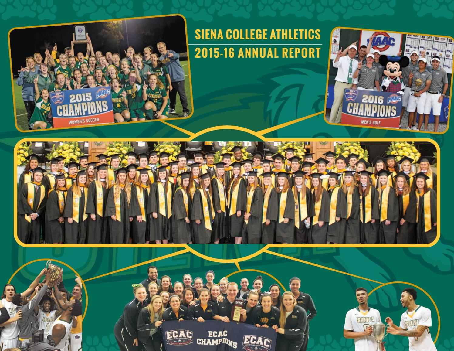 2015 16 siena athletics annual report by siena college athletics issuu