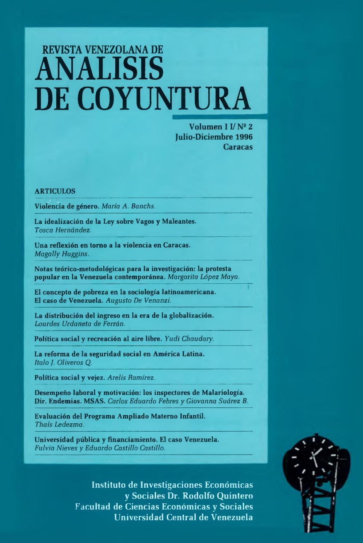 Revista Venezolana de Análisis De Coyuntura. Volumen II. Nº 2  julio-diciembre 1996 by Instituto de Investigaciones Económicas y Sociales  Dr.
