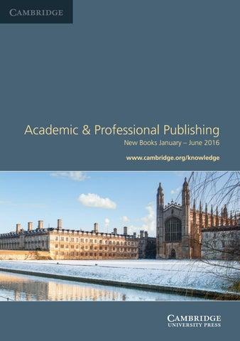 Seasonal catalogue jan - june 2016 by Cambridge University