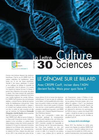 La lettre Culture Science n°30