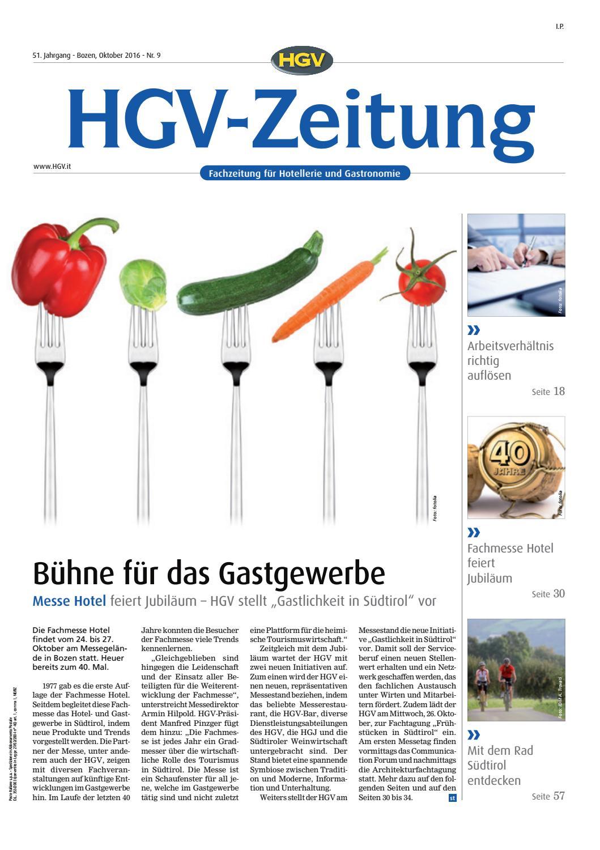 Oktober Ausgabe Der HGV Zeitung By HGV Service Genossenschaft   Issuu