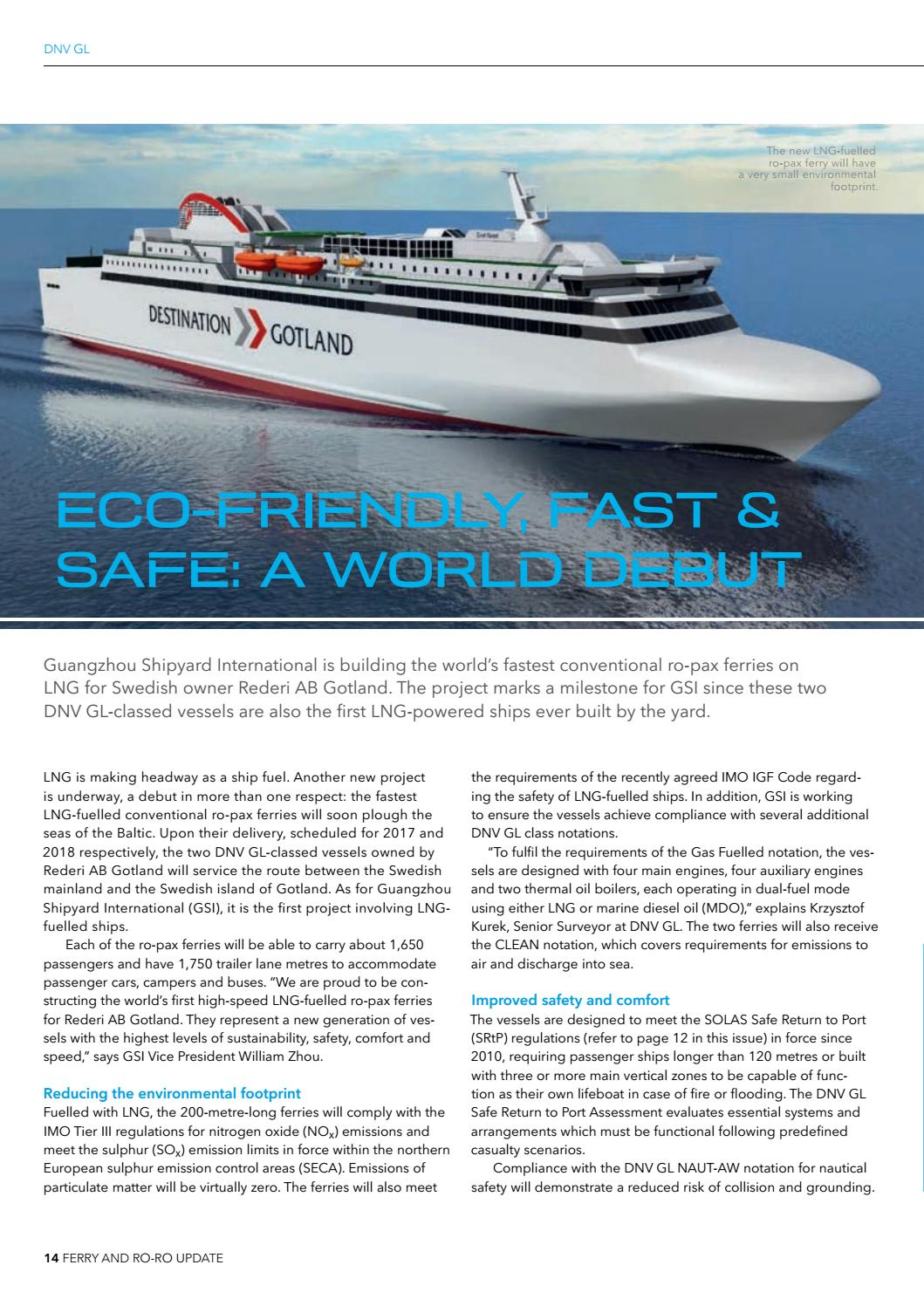 Ferry and Ro-Ro Update by DNV GL - issuu