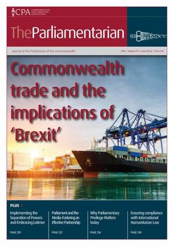 The Parliamentarian 2016 Issue Three