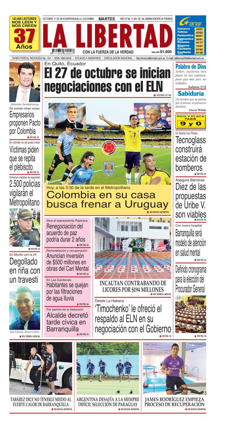 Diario La Libertad 11 De Octubre De 2016 By Diario La Libertad  # Muebles Villalobos Ciales