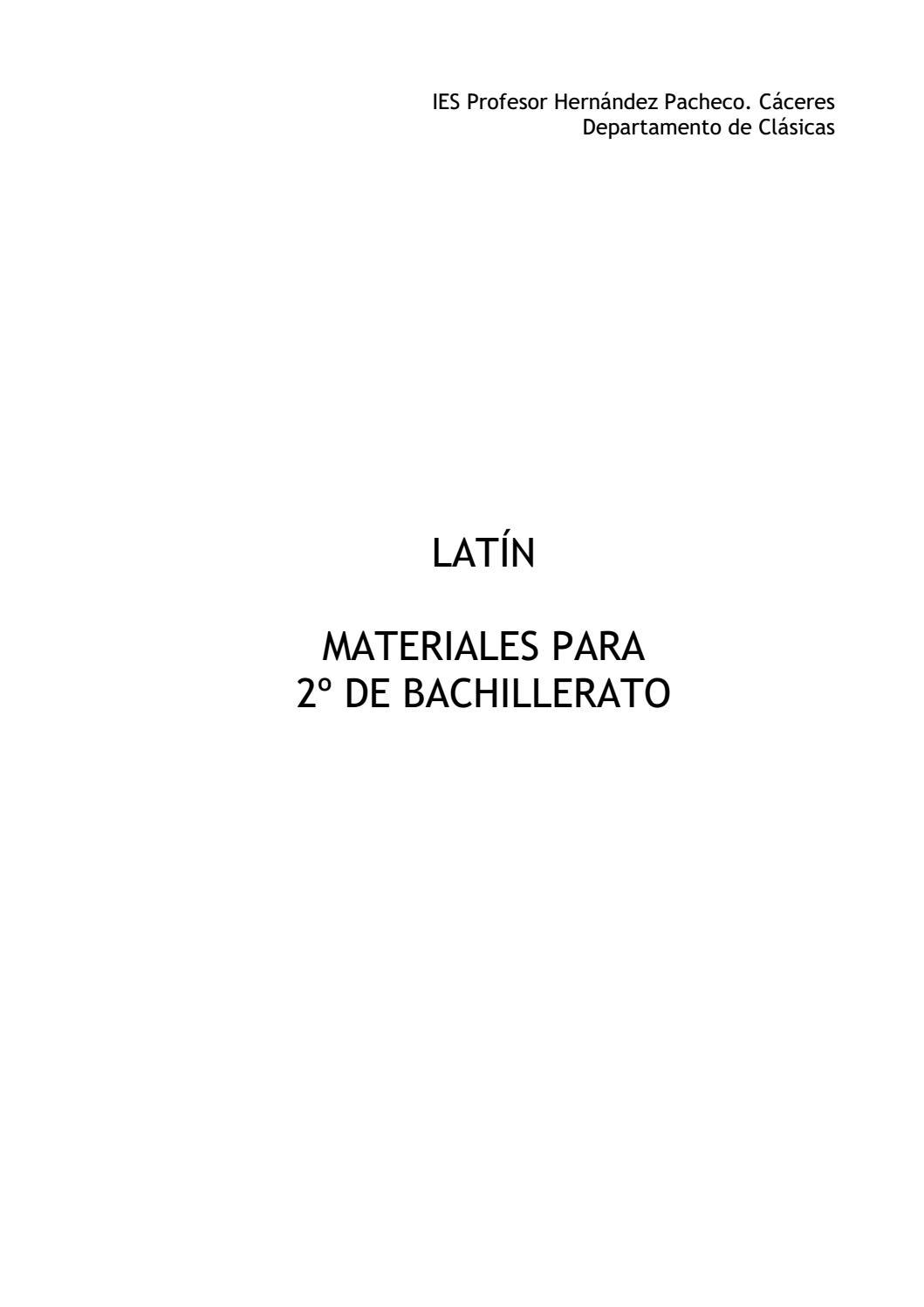 Latín Ii By José María Alegre Issuu