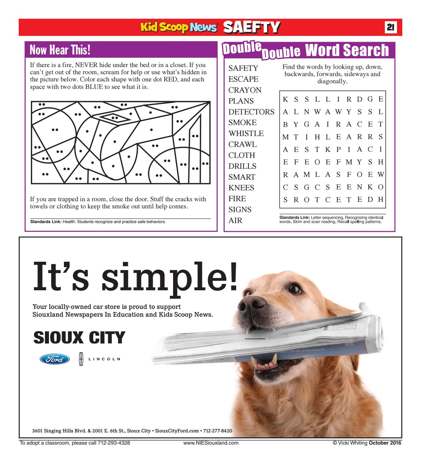 Kids Scoop News - October 2016 by Sioux City Journal - issuu