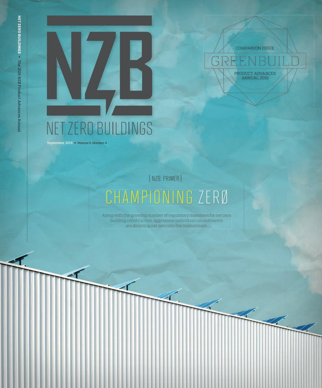 Net Zero Buildings - September 2016 by Construction Business