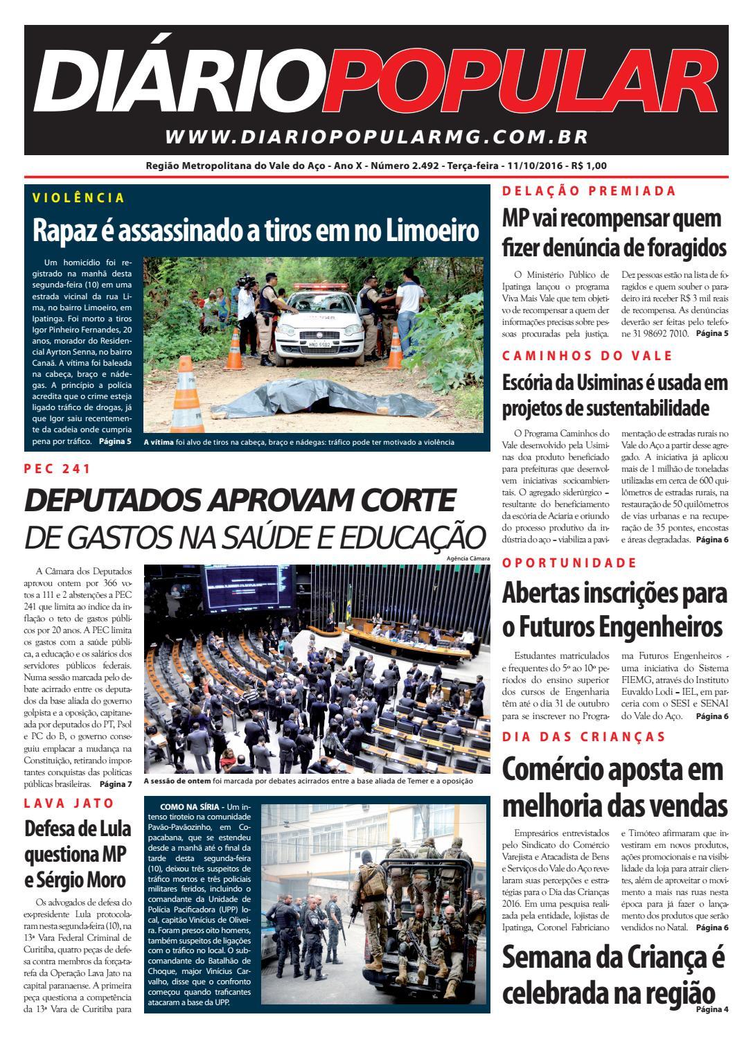 11 10 2016 by Jornal Diário Popular - issuu 37e68b8c3f800