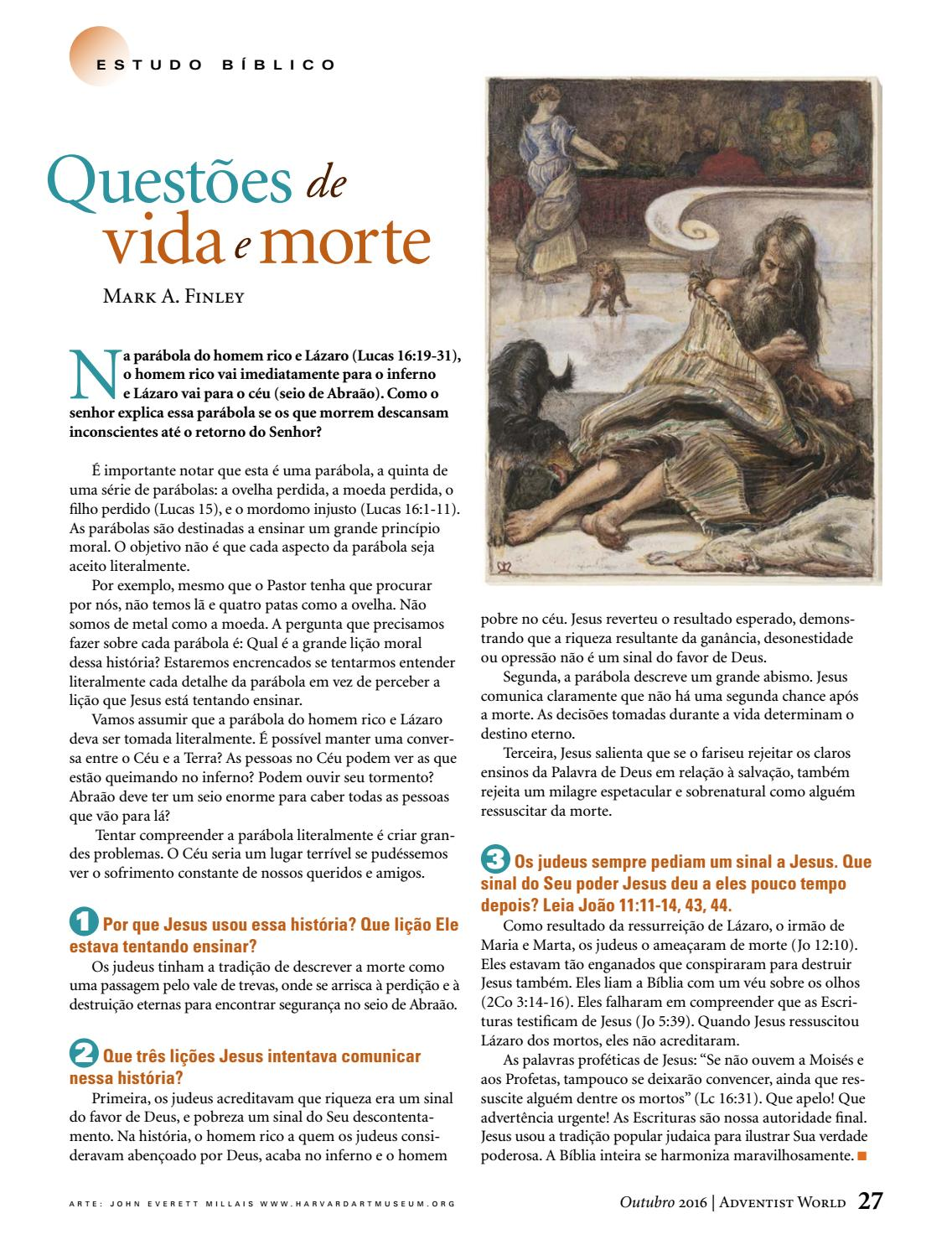 Aw Portugues Outubro 2016 By Adventist World Magazine Issuu