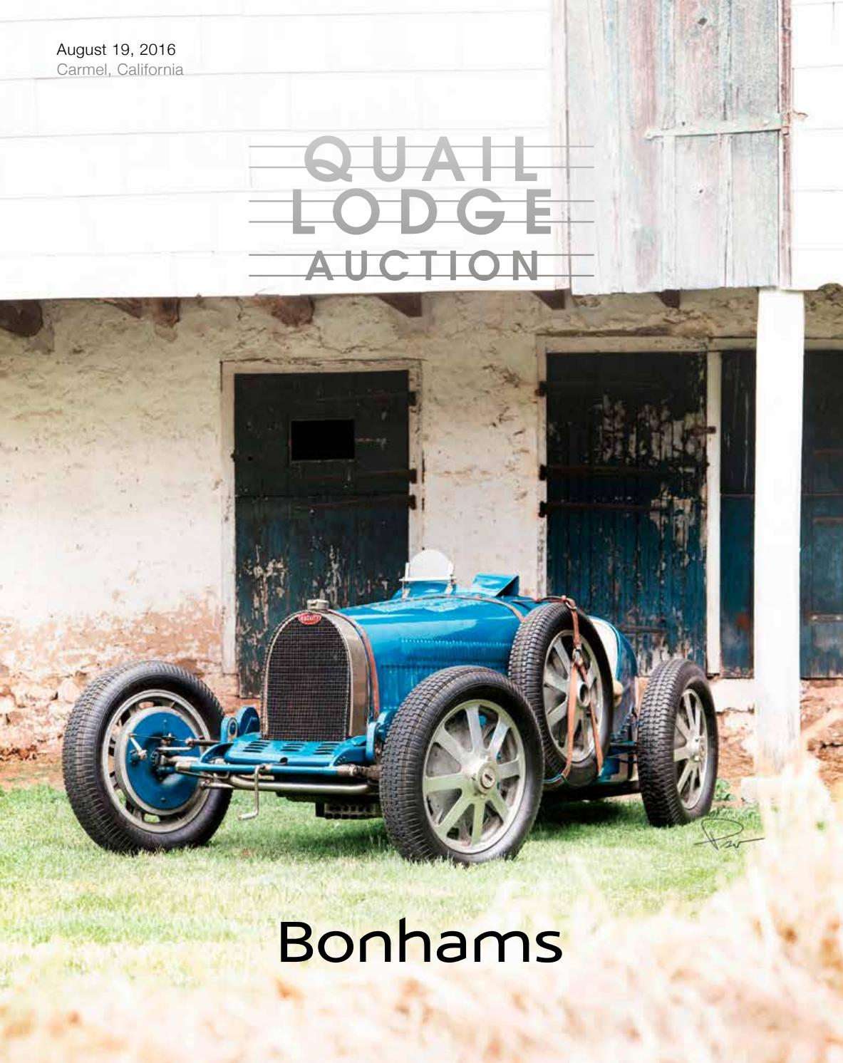 Quail Lodge Auction 2016 By Guido Maraspin Issuu Peugeot 605 Injection And Ignition Wiring Diagram