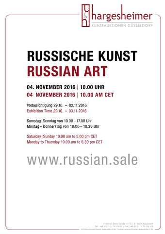 71 Auktion Russische Kunst Russian Art 4 November 2016 By
