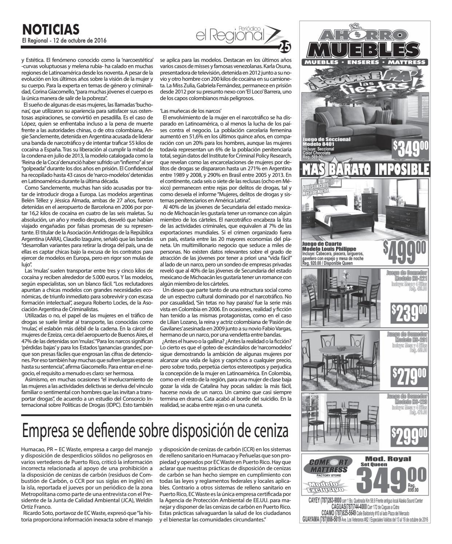 Peri Dico El Regional Edici N 889 By Peri Dico El Regional De  # Ahorro Muebles Cayey