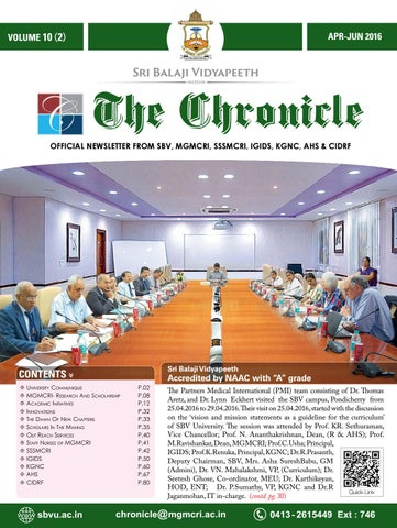 The Chronicle Apr Jun 2016 By Dept Of Medical Informatics Issuu