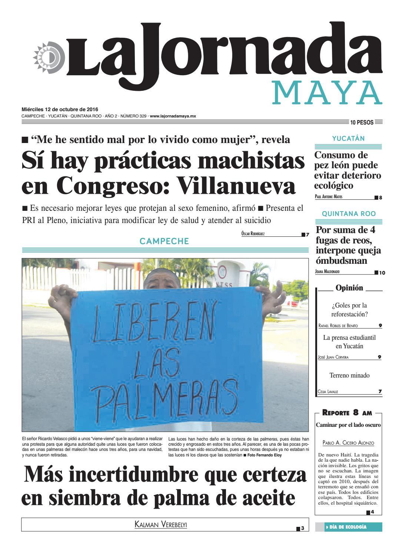 La Jornada Maya · miércoles 12 de octubre, 2016 by La Jornada Maya ...