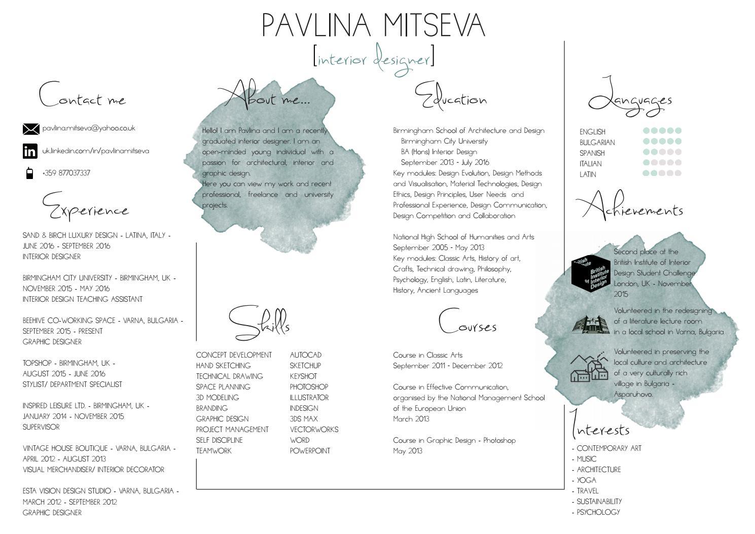 Pavlina Mitseva Interior Design Portfolio By Pavlina Mitseva Issuu
