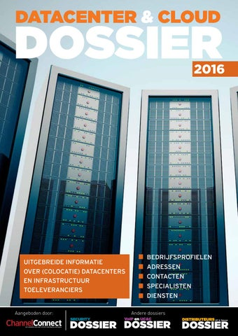 27f975daf2d Datacenter & Cloud Dossier 2016 by Sellair - issuu