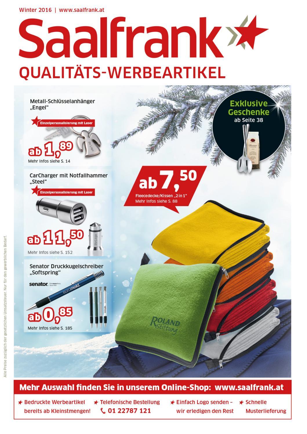 Saalfrank Qualitäts-Werbeartikel Winter Katalog 7 Österreich by
