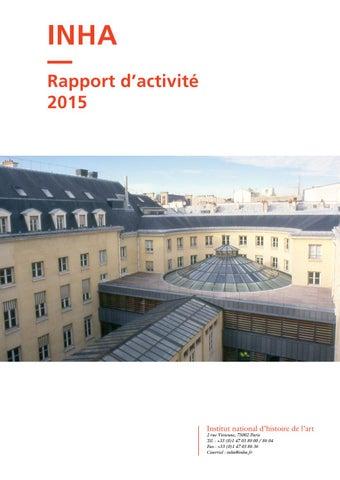 2277d35a52f Rapport d activité 2015 by INHA - issuu