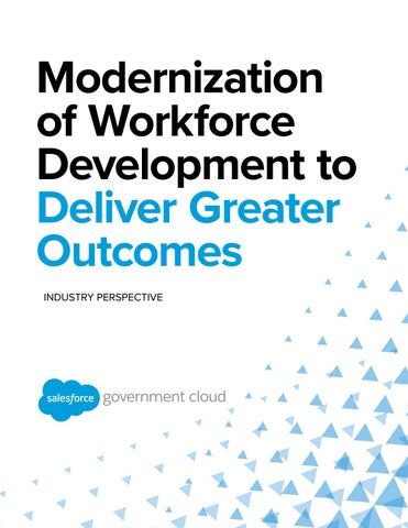 Modernization of Workforce Development to Deliver Greater