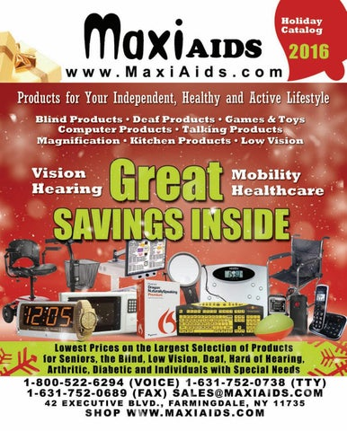 Maxiaids Holiday Catalog 2016 By Maxiaids Com Issuu