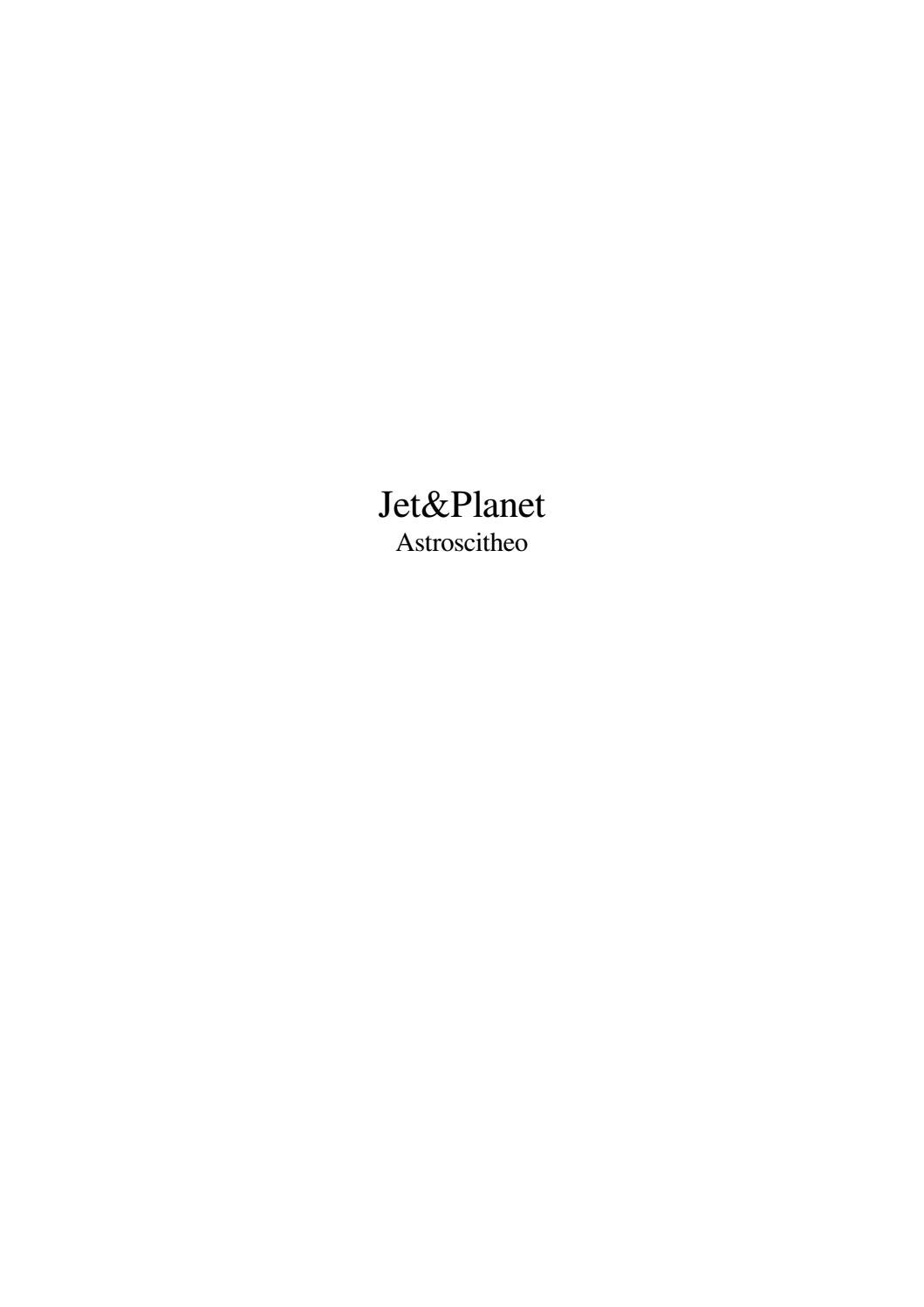 Jet&planet by Michael Crabtree - issuu