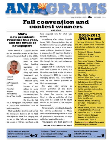 Anagrams October 2016 by Arizona Newspapers Association - issuu