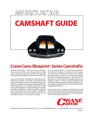 Crane cams muscle car camshaft guide by crane cams issuu camshaft guide malvernweather Image collections