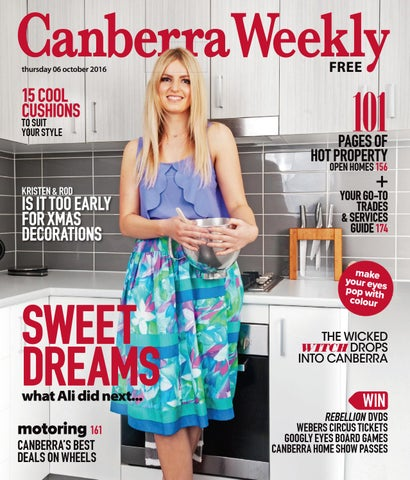a5438b0764853 06 October 2016 by Canberra Weekly Magazine - issuu