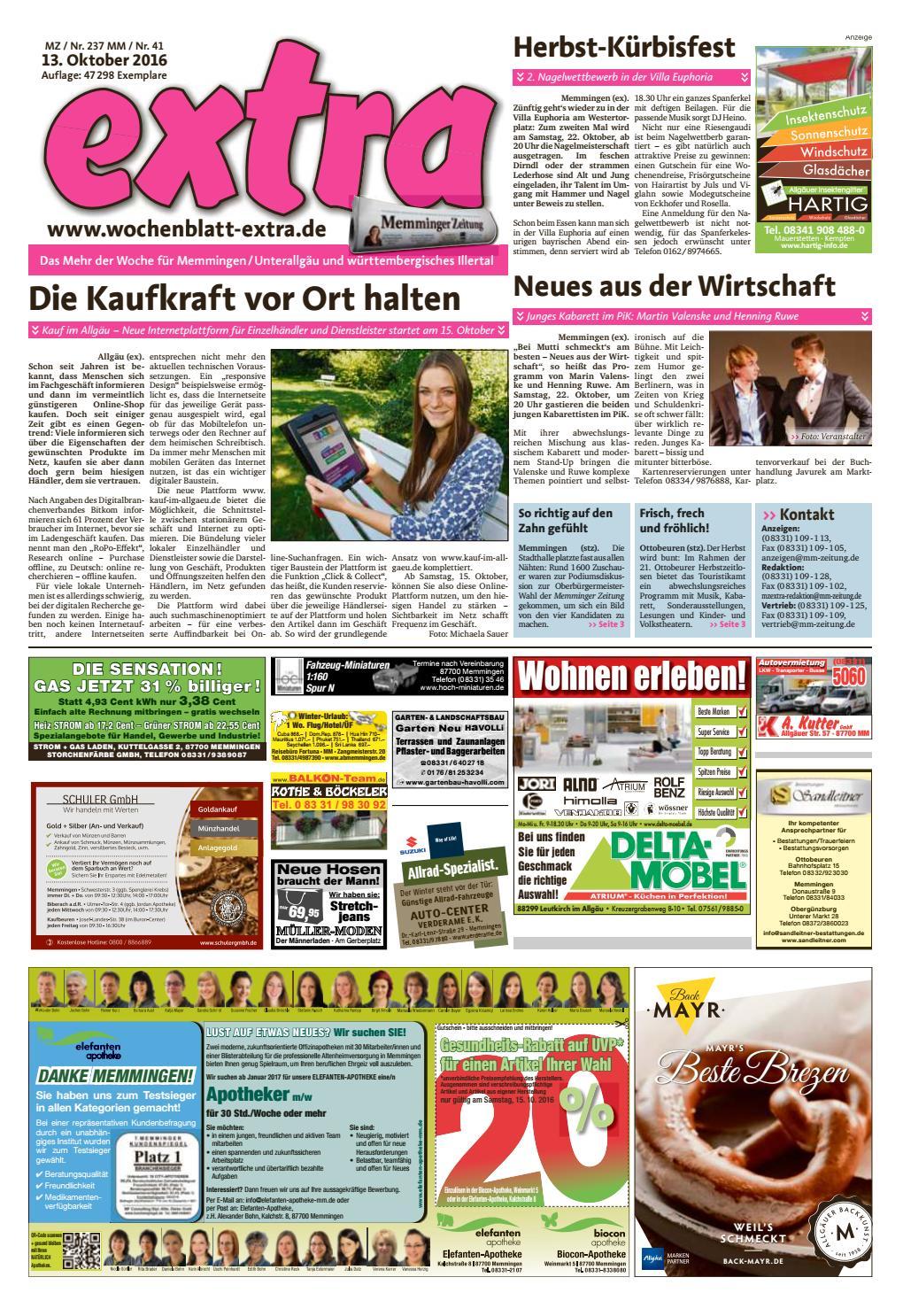 extra Memmingen vom Donnerstag, 13. Oktober by rta.design GmbH - issuu