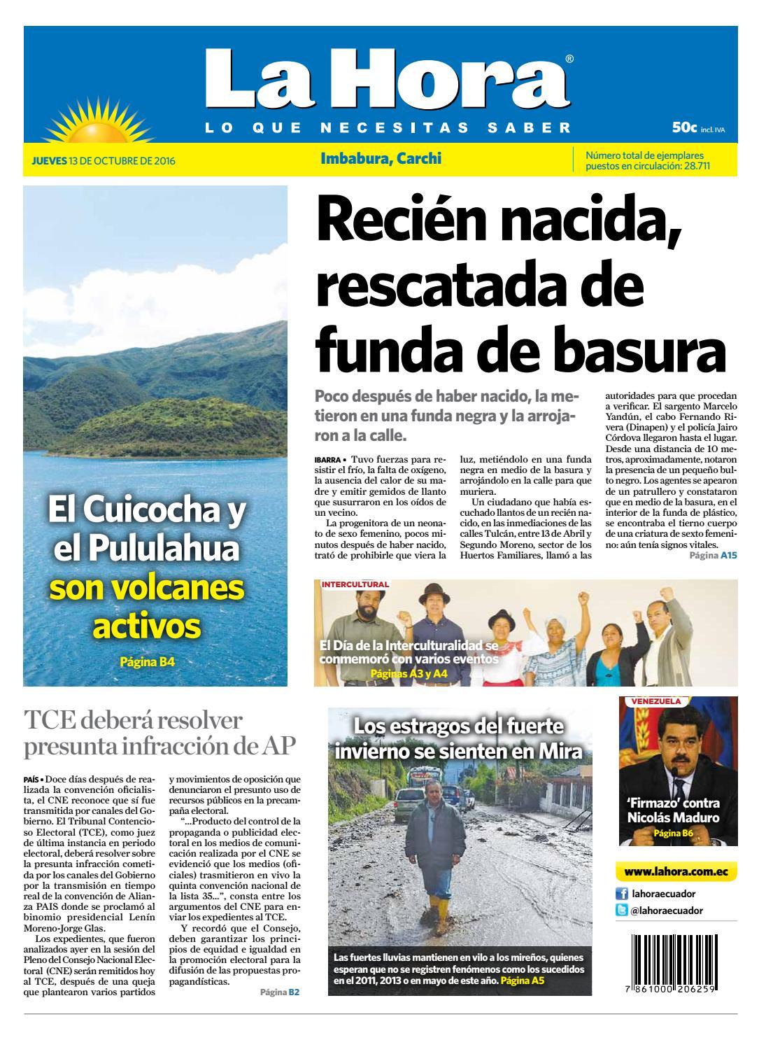81dbd7f77a0 Imbabura Carchi 13 de Octubre 2016 by Diario La Hora Ecuador - issuu