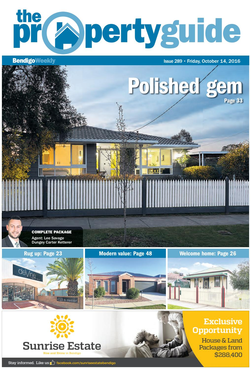 Bendigo Weekly Property Guide issue #989 - Fri, Oct 14, 2016 by ...