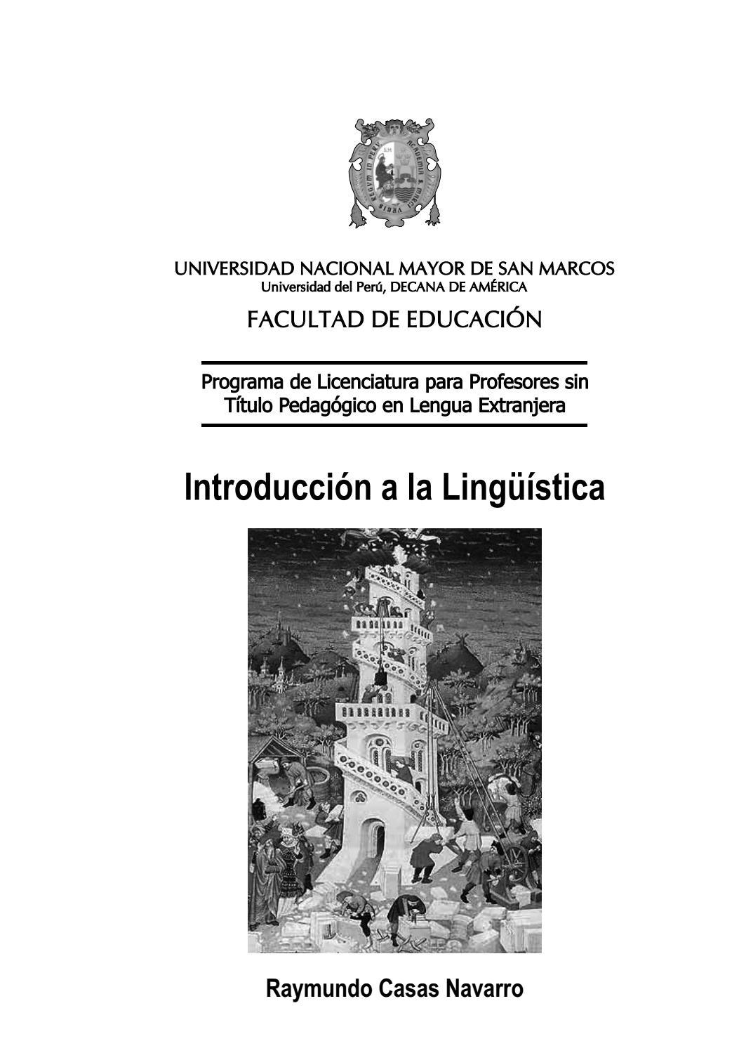 Introducción a la Lingüística by UNMSM-PROLEX - issuu