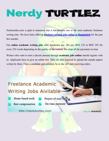 nerdy turtlez offers lance writing jobs online in  nerdyturtlez com is glad to announce that it has become one of the most authentic lance writing sites we have been offering lance writing jobs