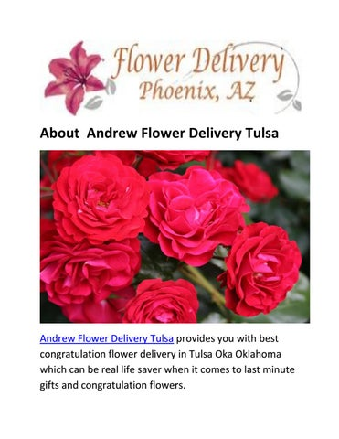 Andrew Flower Delivery Tulsa | Same Day Flower
