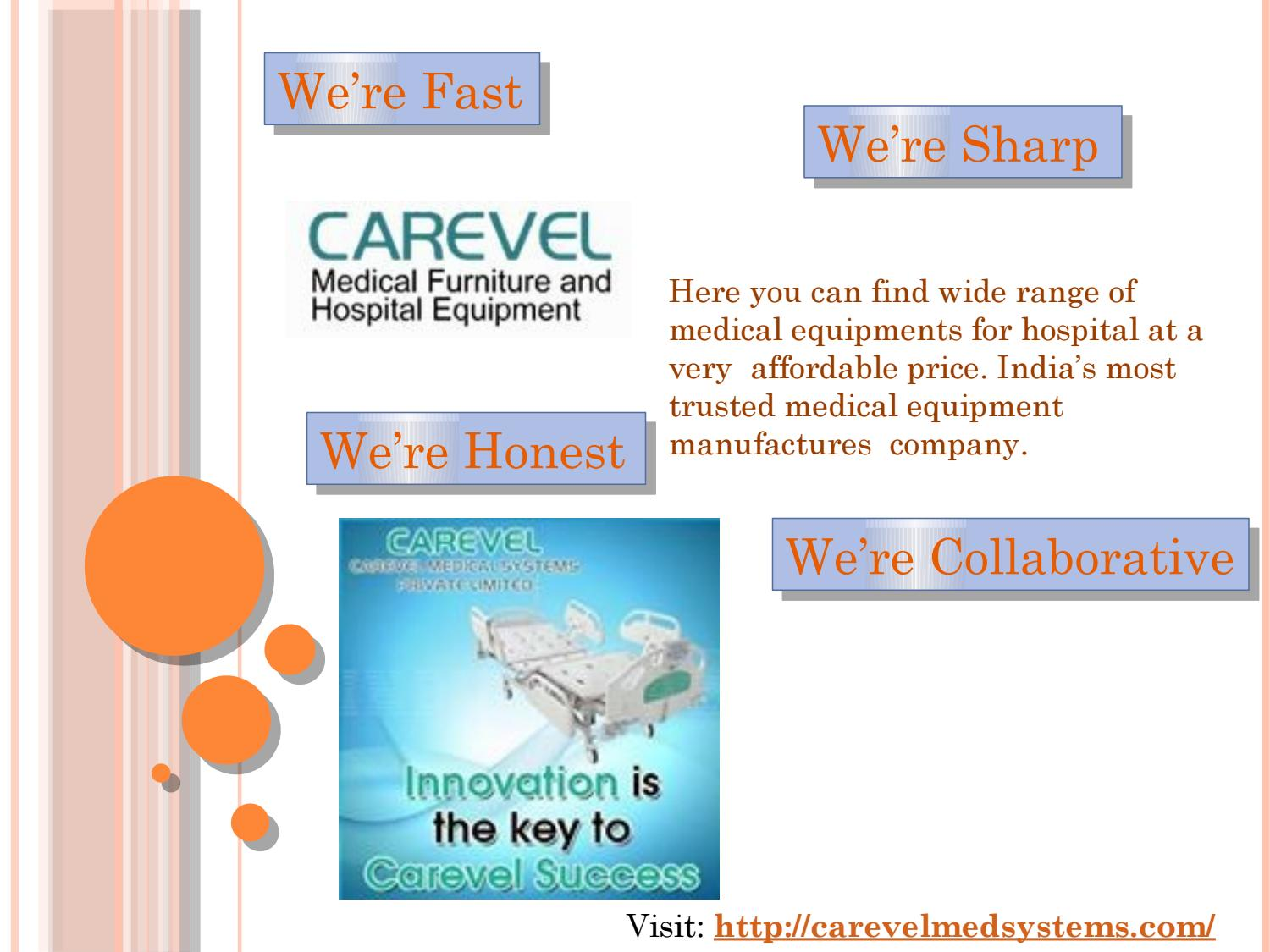 Medical equipment manufacturers by Carevel Medical Systems