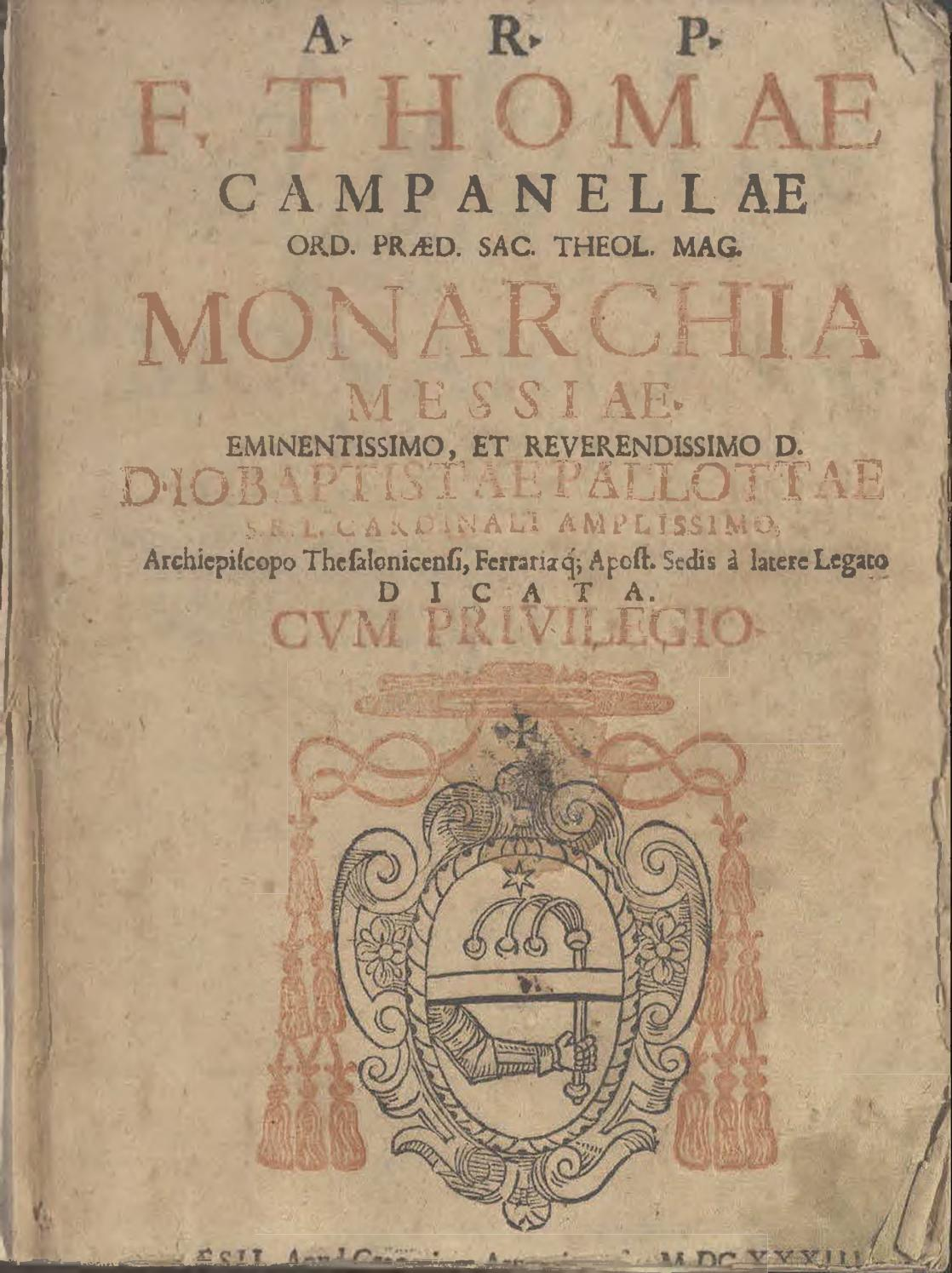 Cas059a tommaso campanella monarchiae messiae by Cassiodoro - issuu