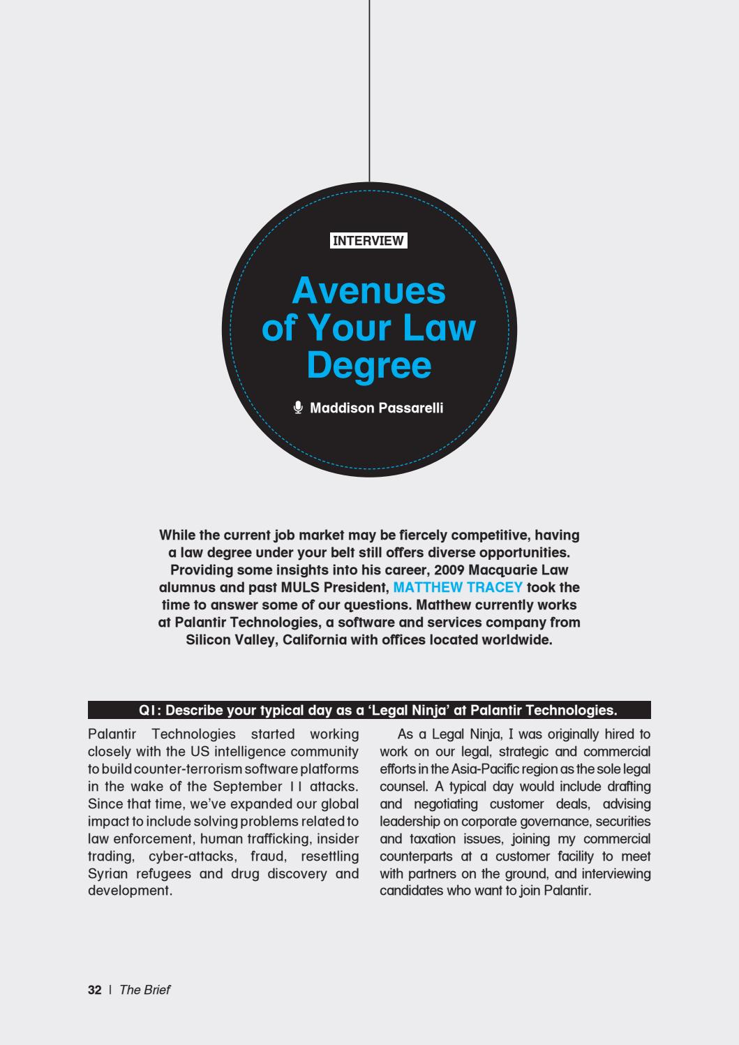 The Brief Edition 3 2016 by Macquarie University Law Society