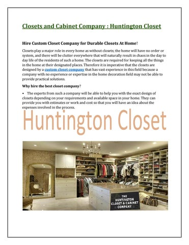 Genial Closets And Cabinet Company : Huntington Closet Hire Custom Closet Company  For Durable Closets At Home! Closets Play A Major Role In Every Home As  Without ...