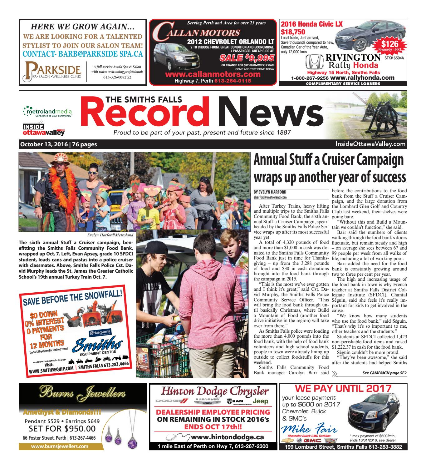 Smithsfalls101316 by Metroland East - Smiths Falls Record