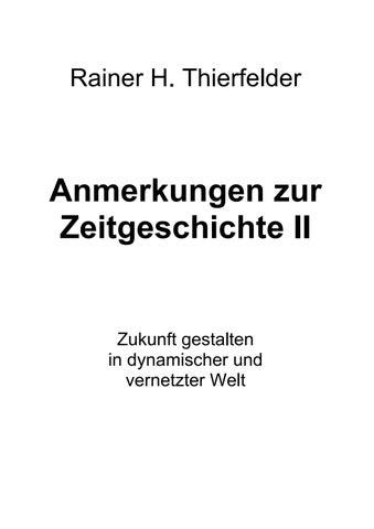 4a5bc3b408410 Thierfelder rainer h anmerkungen zur zeitgeschichte ii by ...