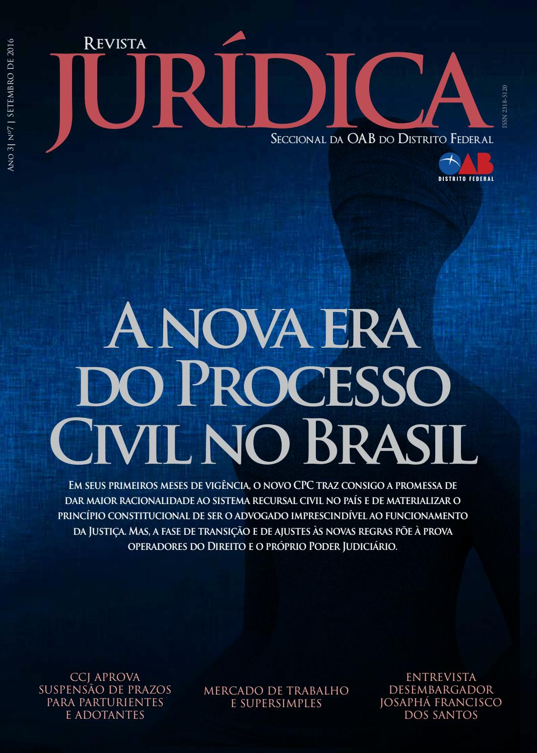b1a1c1861 Revista juridica oabdf ed7 site by Ordem dos Advogados do Brasil – Seção do  Distrito Federal - issuu