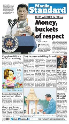 Manila Standard - 2016 October 14 - Friday by Manila Standard - issuu