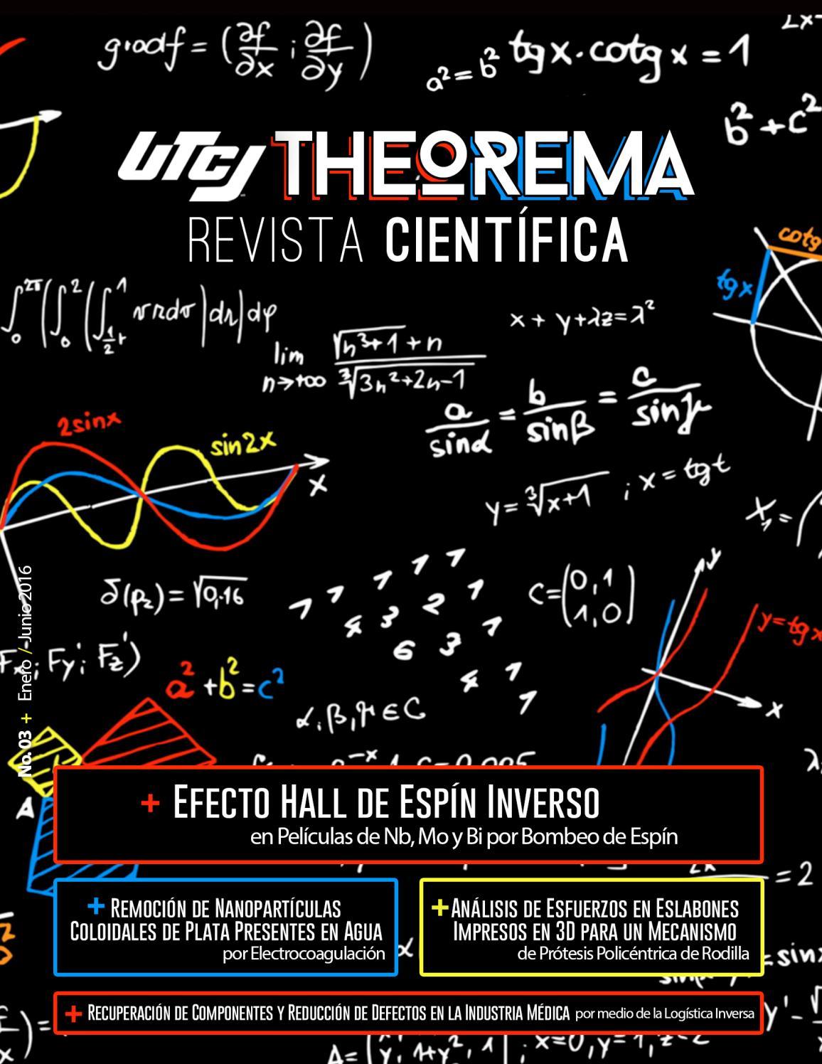 UTCJ Theorema Revista Científica 3era Edición Enero-Junio 2016 by ...