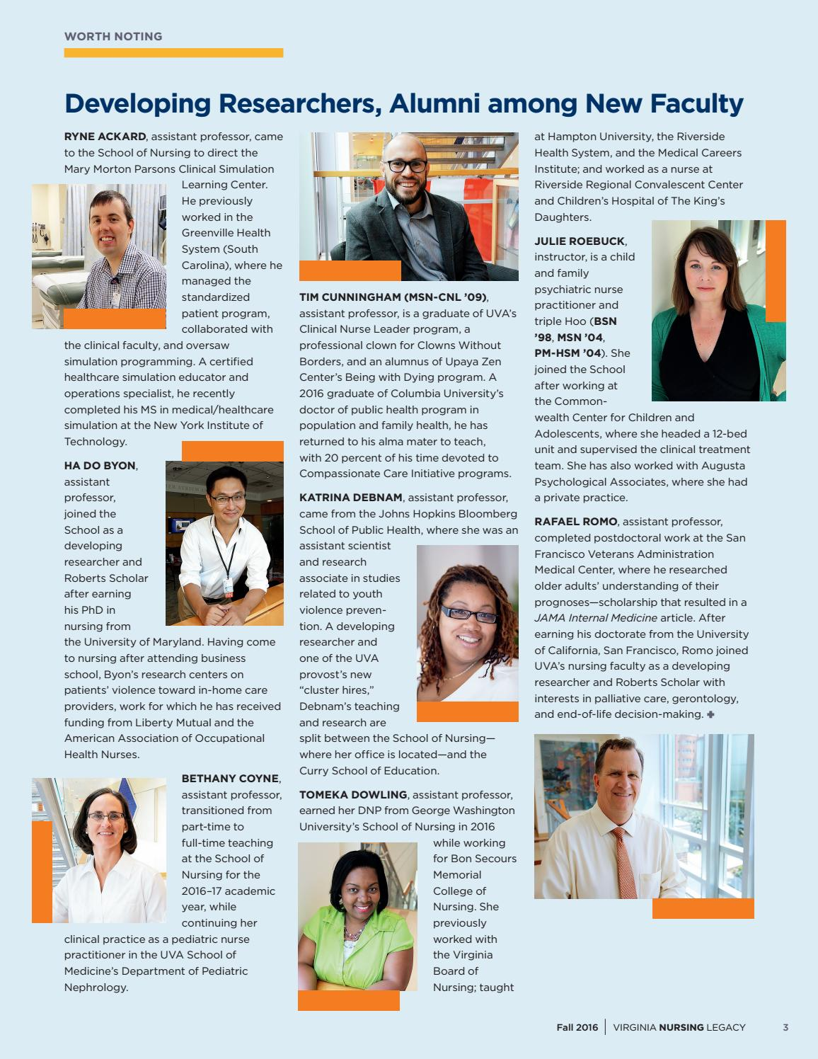 Virginia Nursing Legacy Fall 2016 by Virginia Nursing Legacy
