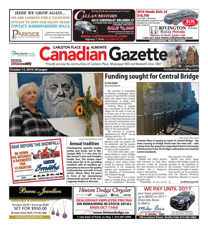3918556ee Almontecarletonplace101316 by Metroland East - Almonte Carleton Place  Canadian Gazette - issuu