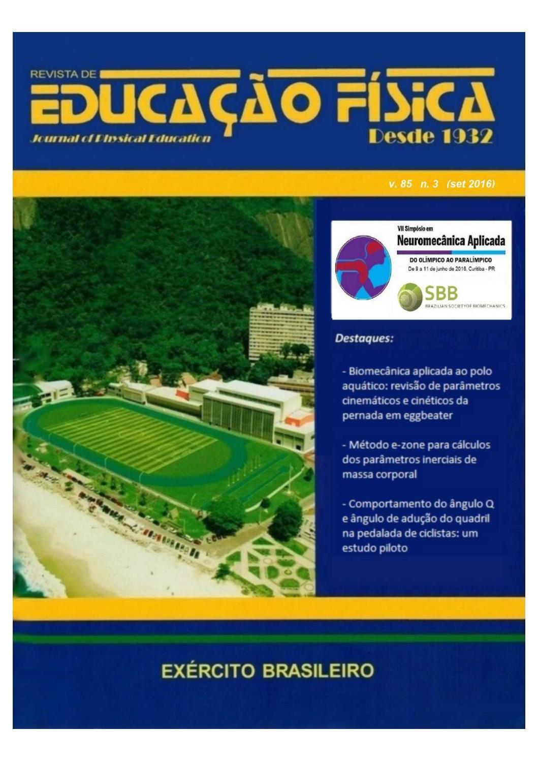 Revista De Educação Fisica Journal Of Physical Education V85 2016 N3 By Revista De Educação Física Journal Of Physical Education Issuu